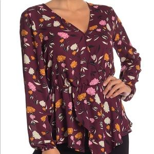 Brand new never worn faux wrap blouse